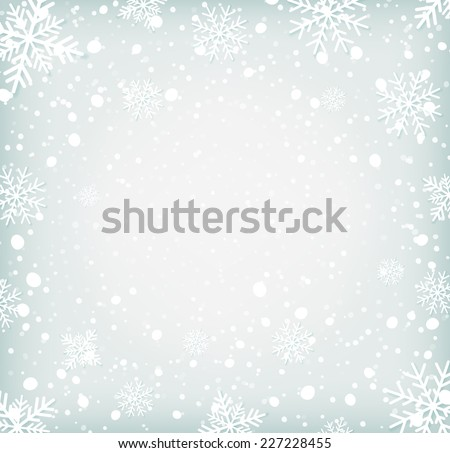 Winter background withh snowflakes. Vector illustration - stock vector