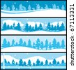 Winter banners. Christmas commercial vector collection. - stock photo