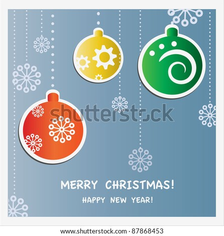 Winter card - stock vector