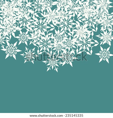 Winter card with decorative snowflakes