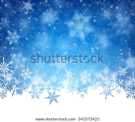 Winter card with snowflakes. Vector paper illustration. - stock vector