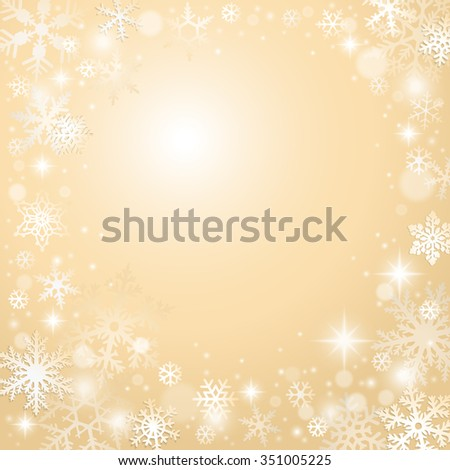 Winter Christmas background with snowflakes and blank space - stock vector