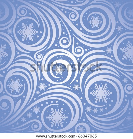 Winter christmas seamless background - stock vector