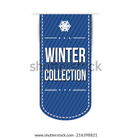Winter collection banner design over a white background, vector illustration