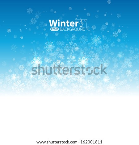 Winter fashion background - stock vector