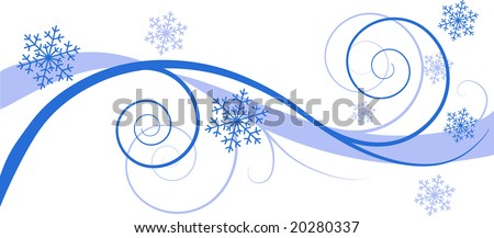 Winter floral background (greeting card)
