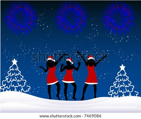 Winter Fun - stock vector