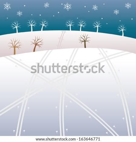 Winter Highland - stock vector