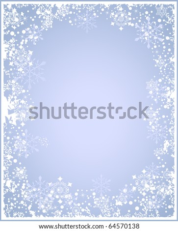 winter holiday background - stock vector