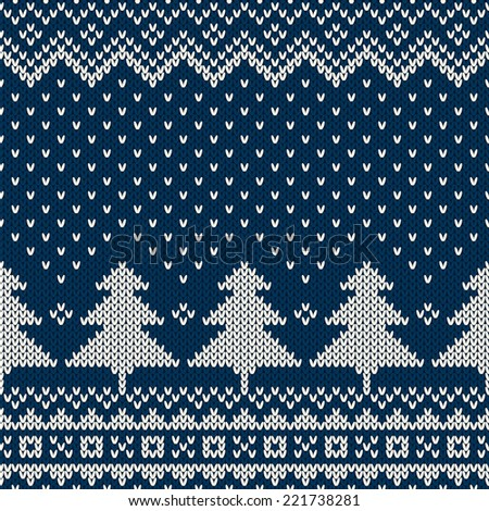 Winter Holiday Seamless Knitting Pattern - stock vector