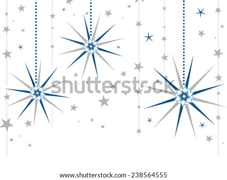 Winter Holidays Background in Two Colors Without Gradient, Copyspace for Greeting - stock vector