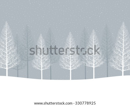 Winter landscape. Forest - stock vector