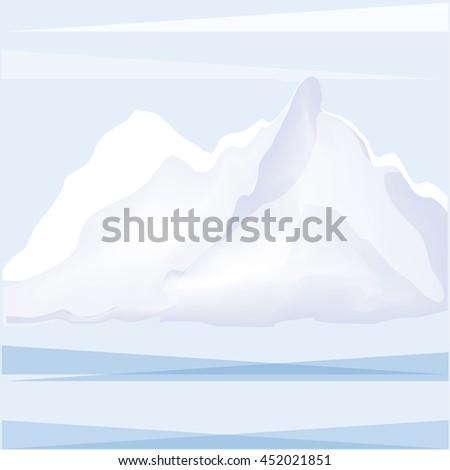 winter landscape mountain snow abstract art creative modern illustration of a light blue background vector - stock vector