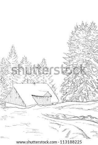 Related pictures winter landscape pencil drawing by martin missfeldt