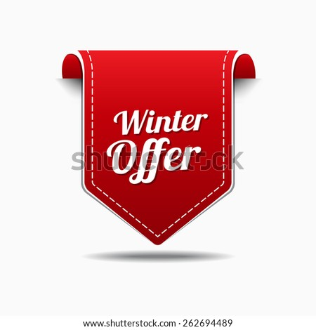 Winter Offer Red Vector Icon Design