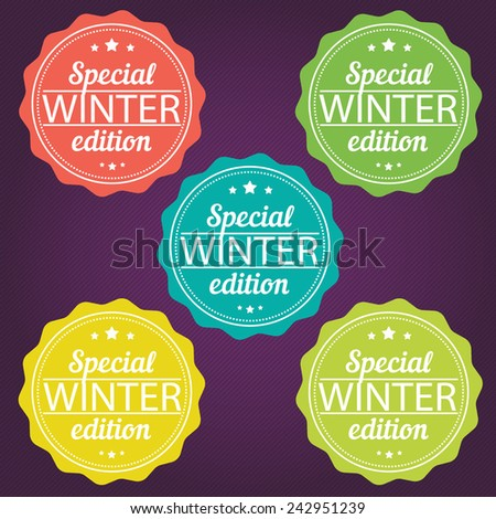 Winter offer stickers. Special edition. Vector illustration. EPS 8 - stock vector