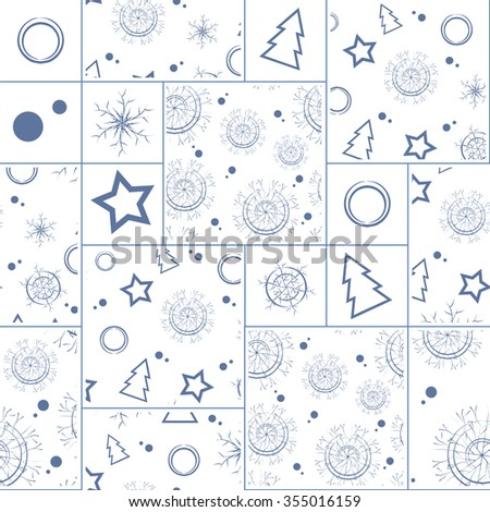 winter patchwork seamless pattern
