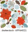 Winter retro seamless pattern - stock vector