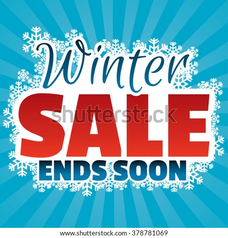 Winter sale banner with snowflakes for prints, websites, posters, emails, price tags