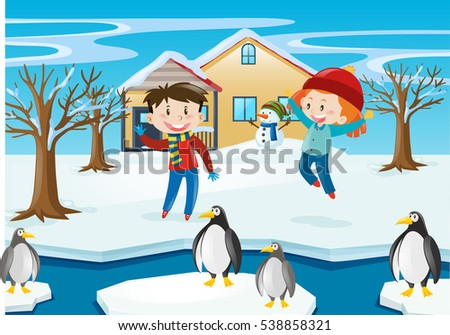 Cartoon Penguins Stock Images, Royalty-Free Images ...