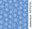 Winter seamless background with snowflakes. Vector eps10 illustration - stock vector