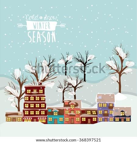 winter season design  - stock vector