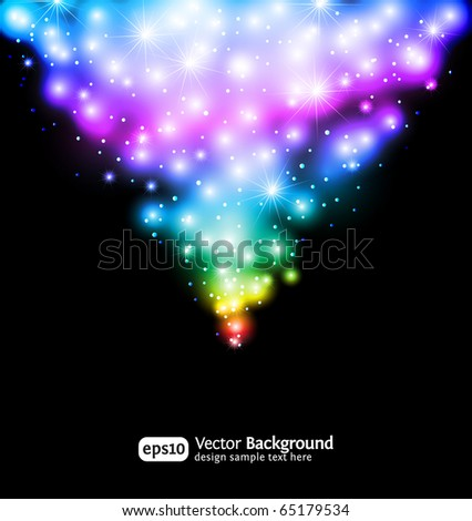Winter snow and star background. Eps 10 color gradient background
