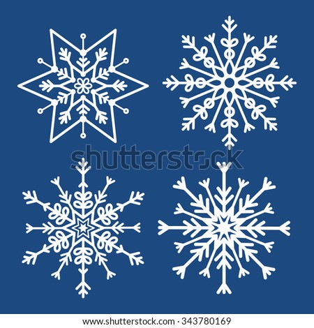 Winter snow or snowflake design, vector illustration eps10