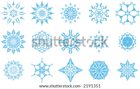 Winter snowflake icons. Vector illustration - resizable to any size - stock vector