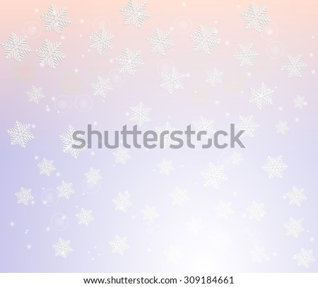 Winter snowflakes background. Vector illustration - stock vector