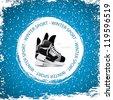 Winter sport background.Ice skates vector - stock vector