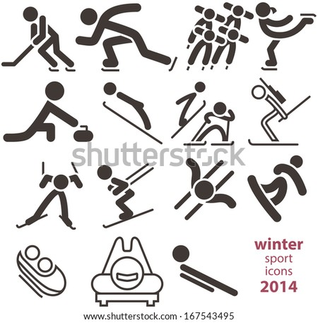 Winter sport icons 2014