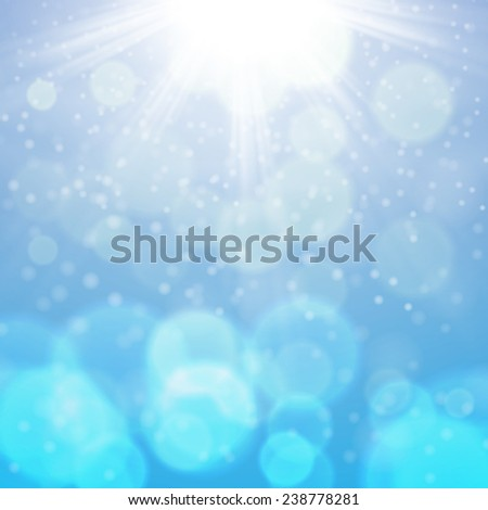 Winter sunny day background. EPS10 vector.