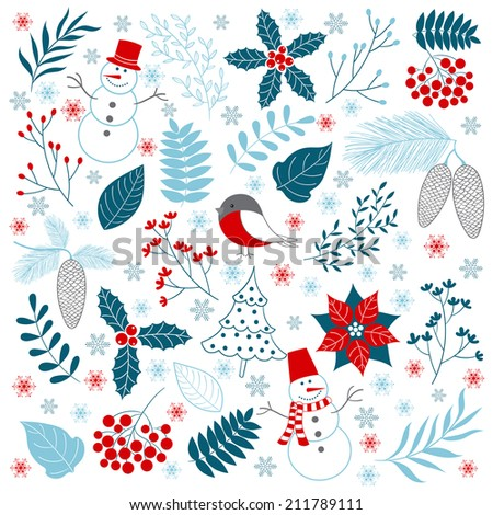 Winter Time - stock vector