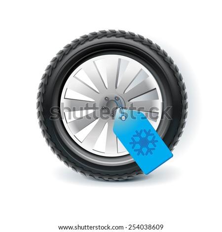 Winter tires - stock vector