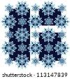 Winter window with snowflakes - stock vector