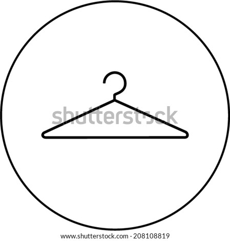 wire clothes hanger symbol - stock vector