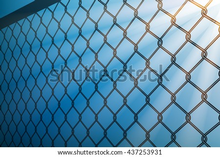 wire fence and light ray graphic vector