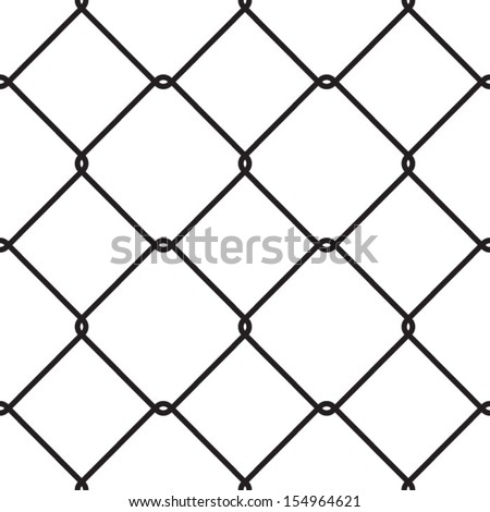 Wire fences, Chain link, fence, railing, enclosure, banister - stock vector