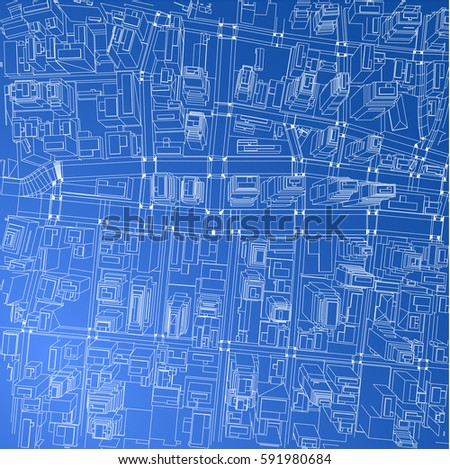 Fashion wireframe background wire center wireframe city blueprint style 3 d rendering stock vector hd rh shutterstock com wireframe powerpoint template malvernweather Images