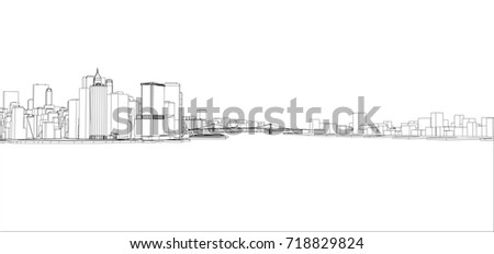 Wireframe new york city blueprint style stock vector 718829824 wire frame new york city blueprint style 3d rendering vector illustration architecture malvernweather Image collections
