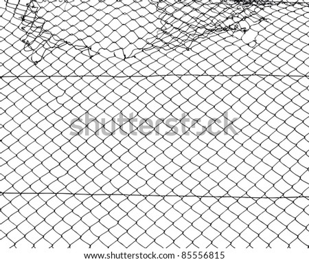 wire mesh fence - stock vector