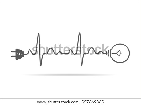 plug in stock images royalty images vectors shutterstock wire plug and light bulb flat icon vector illustration plug light bulb and
