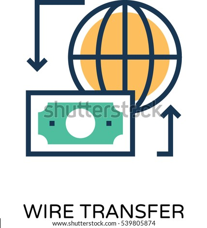Wire Transfer Vector Icon Stock Vector HD (Royalty Free) 539805874 ...