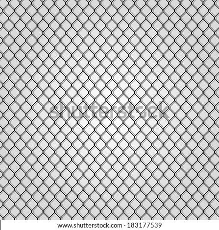 wired fence - illustartion - stock vector