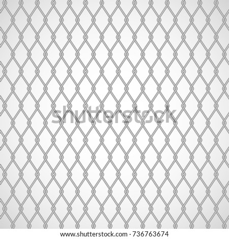 Wired Fence Metallic Ringfence Lathing Net Stock Vector 2018