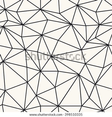 Wireframe Abstract Surface Seamless Pattern - stock vector