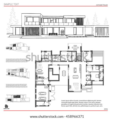 Wireframe blueprint drawing 3 d building house stock vector royalty wireframe blueprint drawing of 3d building house vector architectural template background malvernweather Image collections