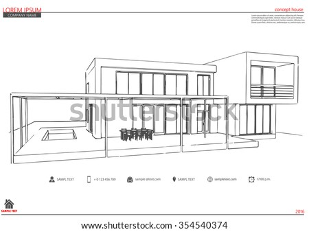 Simple Architectural Drawing Blueprint Floor Plans Drawings