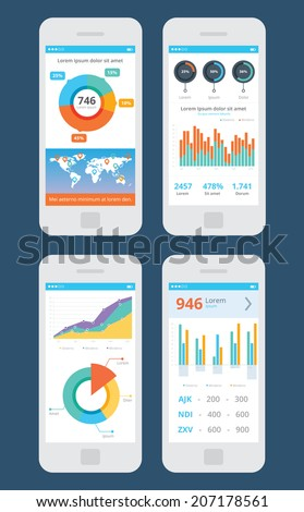 Wireframe business ui kit mobile app stock vector 207178561 wireframe business ui kit mobile app statistics graphs piecharts prices world gumiabroncs Images